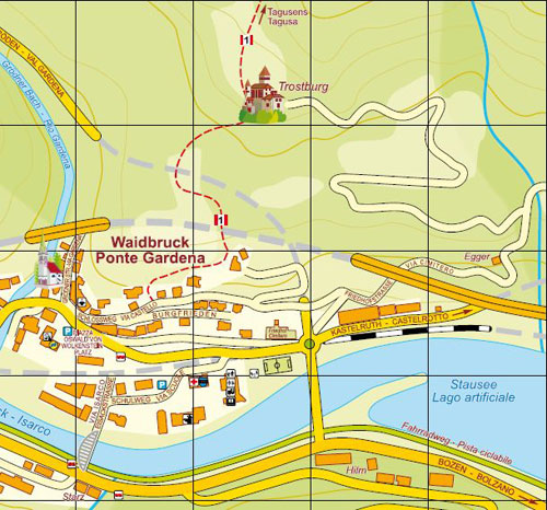 Map of Waidbruck (Ponte Gardena)